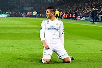 joie des joueurs du Real de Madrid apres le but de Casemiro (Real Madrid) <br /> Parigi 07-03-2018 Allianz Arena <br /> Paris Saint Germain - Real Madrid Quarti di finale ritorno Champions League 2017/2018<br /> Foto Panoramic / Insidefoto