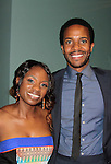 Delaina Dixon (also The Gossip Table & Diva Gals Daily) & Andre Holland (stars in The Knick) at The Knick - on Cinemax - premiering Aug 8, 2014 - starring Andre Holland, Leon Addison Brown, David Fierro and more on July 23, 2014 at NY Academy of Medicine , New York City, New York.  (Photo by Sue Coflin/Max Photos)