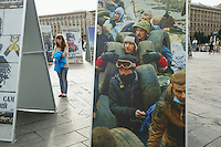 Photo exhibit of the protests that toppled Yanukovich at Maidan square in Kiev. August, 2014