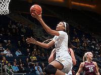 Berkeley, CA - November 14th, 2016:  CAL Women's Basketball's 73-58 victory over Santa Clara University at Haas Pavilion.