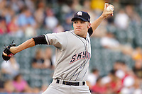July 8, 2009: Greg Smith of the Colorado Springs Sky Sox, Pacific Cost League Triple A affiliate of the Colorado Rockies, during a game at the Spring Mobile Ballpark in Salt Lake City, UT.  Photo by:  Matthew Sauk/Four Seam Images