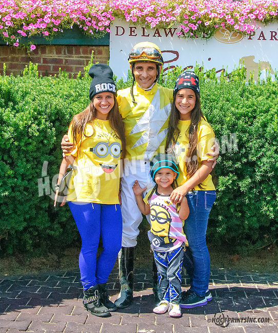 Andry Blanco and family at Delaware Park on 8/12/15