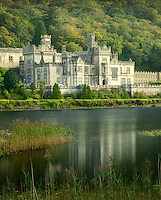 Kylemore Abbey, and lake. Connemara region, Ireland