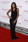 """WESTWOOD, CA. - December 16: Actress Gabrielle Union arrives at the Los Angeles premiere of """"Seven Pounds"""" at Mann's Village Theater on December 16, 2008 in Los Angeles, California."""