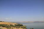Israel, a view of Tabgha and the Sea of Galilee from Tel Kinrot