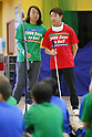 (L-R) Tsuyoshi Kitazawa, Kento Kato, MARCH 5, 2015 : Tokyo 2020 Organising Committee holds a promotion event for the Tokyo 2020 Paralympic games at Tokyo International School in Tokyo, Japan. This event took place 2000 days before the Tokyo 2020 Paralympic games. (Photo by Yusuke Nakanishi/AFLO SPORT)