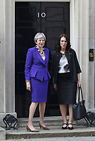 APR 18 NZ Prime Minister visits 10 Downing Street
