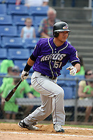 July 7th 2008:  Bronson Sardinha of the Akron Aeros, Class-AA affiliate of the Cleveland Indians, during a game at NYSEG Stadium in Binghamton, NY.  Photo by:  Mike Janes/Four Seam Images