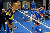 GRONINGEN - Volleybal, Abiant Lycurgus - Inter Rijswijk, Alfa College , Eredivisie , seizoen 2017-2018, 21-10-2017 smash Lycurgus speler Wytze Kooistra
