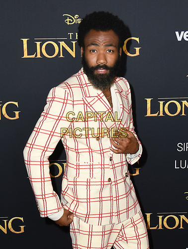 "09 July 2019 - Hollywood, California - Donald Glover. Disney's ""The Lion King"" Los Angeles Premiere held at Dolby Theatre. <br /> CAP/ADM/BT<br /> ©BT/ADM/Capital Pictures"