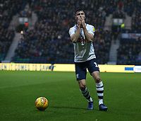 Preston North End's Andrew Hughes reacts to the referees off-side decision<br /> <br /> Photographer Stephen White/CameraSport<br /> <br /> The EFL Sky Bet Championship - Preston North End v Hull City - Wednesday 26th December 2018 - Deepdale Stadium - Preston<br /> <br /> World Copyright &copy; 2018 CameraSport. All rights reserved. 43 Linden Ave. Countesthorpe. Leicester. England. LE8 5PG - Tel: +44 (0) 116 277 4147 - admin@camerasport.com - www.camerasport.com