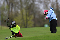 Linda Ilavska (Slovakia) on the 1st fairway during Round 1 of the Irish Girls U18 Open Stroke Play Championship at Roganstown Golf &amp; Country Club, Dublin, Ireland. 05/04/19 <br /> Picture:  Thos Caffrey / www.golffile.ie