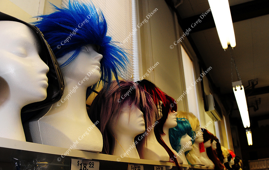 Mallatt Pharmacy and Costume on Williamson Street sells wigs, masks and costumes for Halloween
