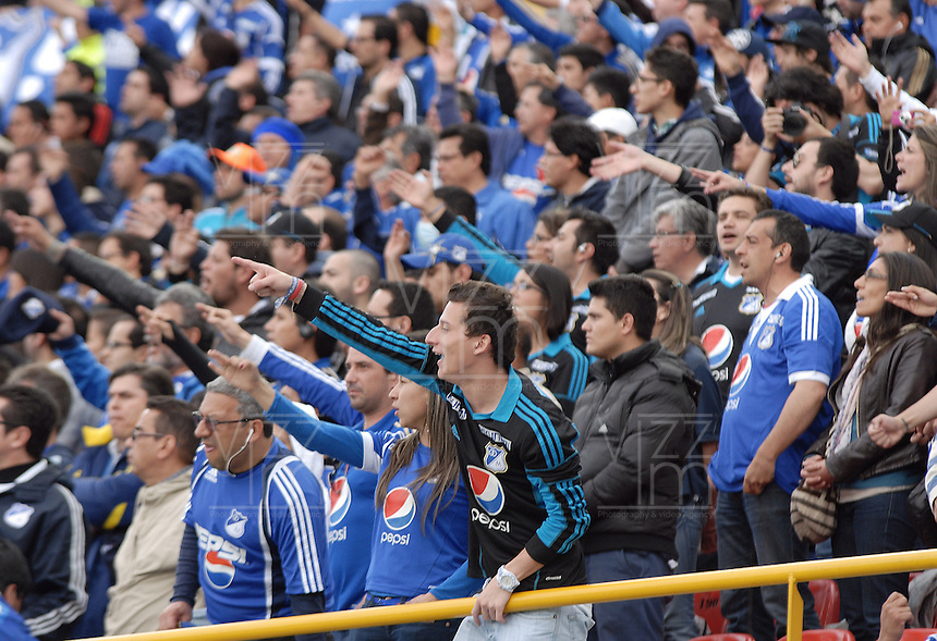 BOGOTÁ -COLOMBIA, 15-06-2013. Aspecto del encuentro entre Millonarios y Once Caldas de los cuadrangulares finales F1 de la Liga Postobón 2013-1 jugado en el estadio el Campín de la ciudad de Bogotá./ Aspect of match between Millonarios and Once Caldas during match of the final quadrangular 1th date of Postobon League 2013-1 at El Campin stadium in Bogotá city. Photo: VizzorImage/STR
