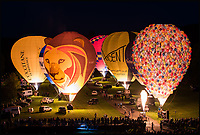 BNPS.co.uk (01202 558833)<br /> Pic: ExclusiveBallooning/BNPS<br /> <br /> The stunning Sky Safari night glow event yesterday evening<br /> <br /> Over 100 hot air balloons gently rose into the crystal clear autum skies around the estate near Warminster as dawn broke.