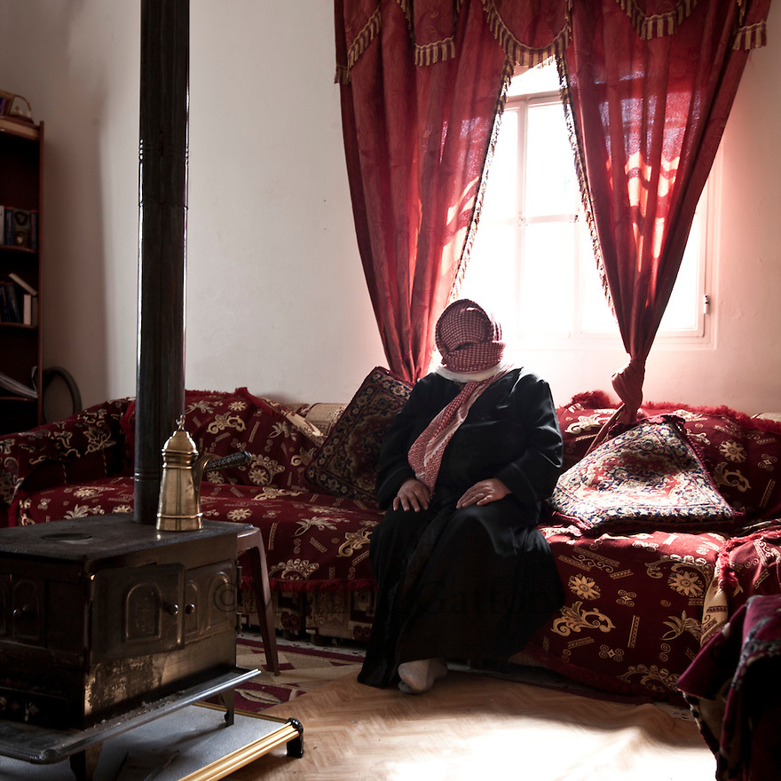 """Lebanon - Jdeideh - Nour, 45 years old escaped from Al Qusair with her kids after the army had entered into their house when they were away leaving behind them women's lingerie hanging across the dining room and a writing on a wall that said """"You are lucky your women were not here"""". Her husband decided to escape before they would come back and rape the women."""