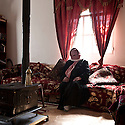 "Lebanon - Jdeideh - Nour, 45 years old escaped from Al Qusair with her kids after the army had entered into their house when they were away leaving behind them women's lingerie hanging across the dining room and a writing on a wall that said ""You are lucky your women were not here"". Her husband decided to escape before they would come back and rape the women."