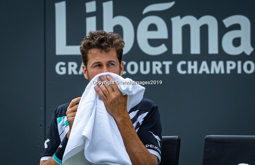 Rosmalen, Netherlands, 13 June, 2019, Tennis, Libema Open, Robin Haase (NED)<br /> Photo: Henk Koster/tennisimages.com