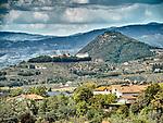 Hilltop village of Larciano, landscape near Castello di Larciano, Tuscano, Italy