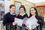 L-R Katie McCarthy, Maura O'Connor and Aisling Teahan from Presentation secondary school, Castleisland, are all happy after sitting English paper 1, in this years leaving Cert exams last Wednesday, June 5.