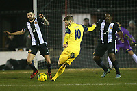Bradley Warner of Hornchurch scores the first goal for his team during Heybridge Swifts vs AFC Hornchurch, Bostik League Division 1 North Football at Scraley Road on 9th January 2018