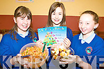 GRUBS UP: Getting stuck in at the Healthy Eating Week at Knockngree school on Friday were l-r: Roisi?n O'Mahony, Danielle Vaughan, Una O'Mahony.