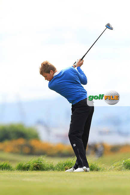 Jonathan Yates (Naas) on the 3rd tee during Round 3 of the Irish Amateur Open Championship at Royal Dublin on Saturday 9th May 2015.<br /> Picture:  Thos Caffrey / www.golffile.ie