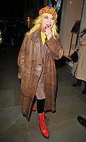 Pam Hogg at the LFW (Men's) a/w 2019 GQ Dinner, Brasserie of Light, Selfridges, Duke Street, London, England, UK, on Monday 07 January 2019.<br /> CAP/CAN<br /> &copy;CAN/Capital Pictures