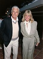 ARCHIVE: MONACO:  JUNE 1988: Linda Evans & John Forsythe at celebrity tennis tournament in Monaco.<br /> File photo © Paul Smith/Featureflash