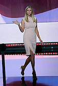 Ivanka Trump, Daughter of Donald Trump and EVP at the Trump Organization, arrives to introduce her father at the 2016 Republican National Convention held at the Quicken Loans Arena in Cleveland, Ohio on Thursday, July 21, 2016.<br /> Credit: Ron Sachs / CNP<br /> (RESTRICTION: NO New York or New Jersey Newspapers or newspapers within a 75 mile radius of New York City)