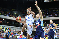 GB's Devan Bailey leaps during the EuroBasket 2015 2nd Qualifying Round Great Britain v Bosnia & Herzegovina (Euro Basket 2nd Qualifying Round) at Copper Box Arena in London. - 13/08/2014