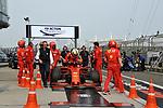 12.04.2019, Shanghai Audi International Circuit, Shanghai, 2019 FORMULA 1 HEINEKEN CHINESE GRAND PRIX<br /> im Bild<br />Sebastian Vettel (GER#5), Scuderia Ferrari f&auml;hrt auf die FIA Waage<br /> <br /><br /> <br /> Foto &copy; nordphoto / Bratic
