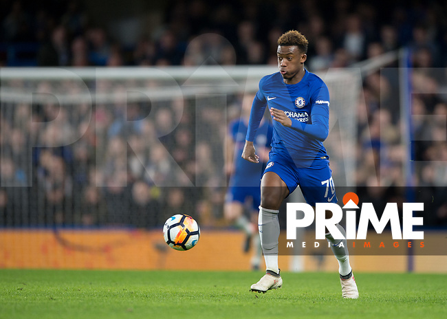 Callum Hudson-Odoi of Chelsea during the FA Cup 5th round match between Chelsea and Hull City at Stamford Bridge, London, England on 16 February 2018. Photo by Vince  Mignott / PRiME Media Images.