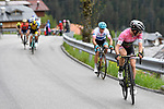 Race leader Maglia Rosa Simon Yates (GBR) Mitchelton-Scott attacks from Maglia Bianca Miguel Angel Lopez (COL) Astana Pro Team during Stage 15 of the 2018 Giro d'Italia, running 156km from Tolmezzo to Sappada, Italy. 20th May 2018.<br /> Picture: LaPresse/Fabio Ferrari | Cyclefile<br /> <br /> <br /> All photos usage must carry mandatory copyright credit (&copy; Cyclefile | LaPresse/Fabio Ferrari)