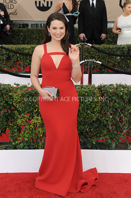 WWW.ACEPIXS.COM<br /> <br /> January 30 2016, LA<br /> <br /> Katie Lowes arriving at the 22nd Annual Screen Actors Guild Awards at the Shrine Auditorium on January 30, 2016 in Los Angeles, California<br /> <br /> By Line: Peter West/ACE Pictures<br /> <br /> <br /> ACE Pictures, Inc.<br /> tel: 646 769 0430<br /> Email: info@acepixs.com<br /> www.acepixs.com