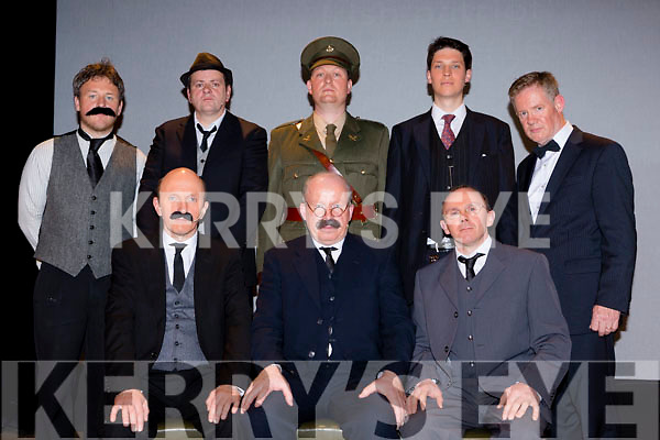 The 1916 Military Council from the play Patrick after their performance in Rathmore Community Hall on Monday night front row l-r: James Connolly (Genie O'Leary), Tom Clarke (Jimmy Kelly), Joseph Mary Plunkett (Mike Cronin). Back row: Eamonn Ceannt (declan buckley). Michael Collins (Derry Healy), Padraig Pearse (Arthur Moynihan), Sean MacDiarmada (Diarmuid Coakley, Thomas McDonagh John Wall