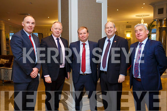 "AS part of Bank of Ireland's 17th National Enterprise Week a Conference entitled ""FDI Investment in Kerry took place in the Rose hotel on Friday. Pictured l-r John McCallum, Bank of Ireland, Ray O'Connor, IDA Ireland,  Gerry Enright, BOI Tralee, Dick  Henggler, Rose Hotel, Ogie Moran, Shannon Development"