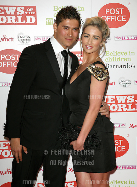 Chantelle Houghton and Rav Wilding arriving for The Children's Champion Awards 2011, at the Grosvenor House Hotel, London. 30/03/2011  Picture by: Alexandra Glen / Featureflash