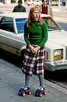 Washington DC., USA,  1979<br /> Amy Carter the daughter of President James Carter goes out to McDonald's on her roller skates. Credit: Mark Reinstein/MediaPunch