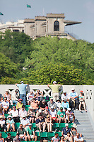 29-05-12, France, Paris, Tennis, Roland Garros, Centercourt with view on Hippodrome