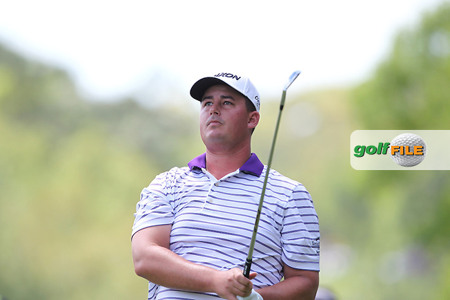 Michael Putnam of USA watches his drive from the 2nd tee during the 3rd round of the Valspar Championship, Innisbrook Resort (Copperhead), Palm Harbor, Florida, USA<br /> Picture: Peter Mulhy / Golffile
