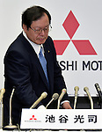 July 27, 2016, Tokyo, Japan - Vice President Koji Ikeya of Japan's Mitsubishi Motors attends a briefing on the automakers April-June group operating profit at its head office in Tokyo on Wednesday, July 27, 2016. Mitsubishi Motors reported a 75 percent drop in first-quarter operating profit as domestic sales of mini-vehicles plunged in the wake of the companys fuel efficiency data scandal. (Photo by Natsuki Sakai/AFLO) AYF -mis-