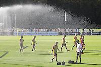 Eintracht Spieler freuen sich über die Abkühlung - Eintracht Frankfurt Training, Commerzbank Arena