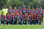 Players of Nepal pose for a photo prior to the ICC 2016 Women's World Cup Asia Qualifier match between Hong Kong vs Nepal on 09 October 2016 at the Tin Kwong Road Cricket Recreation Ground in Hong Kong, China. Photo by Marcio Machado / Power Sport Images