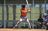 Baltimore Orioles Lucas Herbst (37) during a minor league spring training game against the Minnesota Twins on March 28, 2015 at the Buck O'Neil Complex in Sarasota, Florida.  (Mike Janes/Four Seam Images)