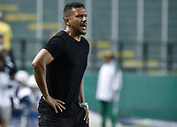 PALMIRA - COLOMBIA, 03-08-2019: Alvaro Diego Herrera técnico del Cali gesticula durante partido entre Deportivo Cali y Cortuluá por la fecha 4 de la Liga Femenina Águila 2019 jugado en el estadio Deportivo Cali de la ciudad de Palmira. / Alvaro Diego Herrera coach of Cali gestures during match between Deportivo Cali and Cortulua for the date 4 as part Aguila Women League 2019 played at Deportivo Cali stadium in Palmira city. Photo: VizzorImage / Gabriel Aponte / Staff