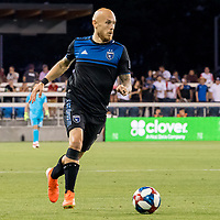 San Jose, CA - Tuesday June 11, 2019: Magnus Eriksson #7 during the US Open Cup match between the San Jose Earthquakes and Sacramento Republic FC at Avaya Stadium.