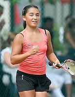 9-8-08, Eten Leur, NJK Tennis, De nieuwe kampioene meisjes tot 12 jaar, Townsend bald haar vuist