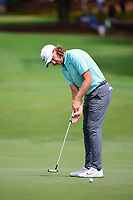 Tommy Fleetwood (ENG) watches his putt on 10 during Sunday's final round of the PGA Championship at the Quail Hollow Club in Charlotte, North Carolina. 8/13/2017.<br /> Picture: Golffile | Ken Murray<br /> <br /> <br /> All photo usage must carry mandatory copyright credit (&copy; Golffile | Ken Murray)