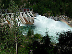 Hydro electric generating dam aty Brilliant on Kootenay River at Castlegar British Columbia Canada<br />
